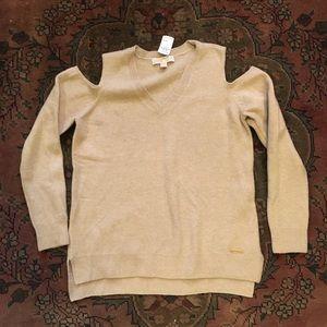 MICHAEL Michael Kors Sweaters - Oatmeal Michael Kors Cold Shoulder Sweater